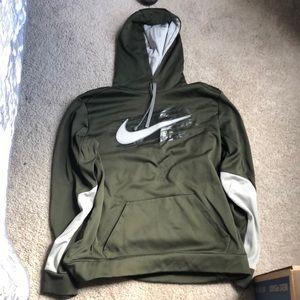 Therma-fit green Nike sweatshirt